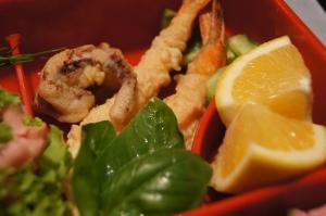 Squid, scrimp tempura