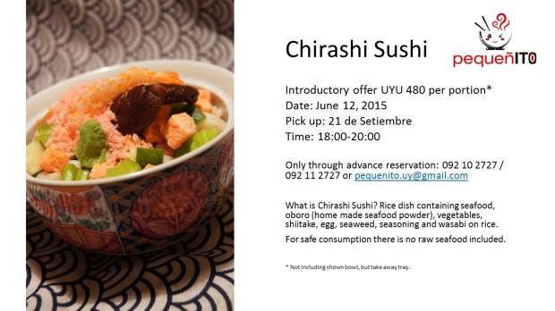 chirashi sushi pick up June 2015 p2