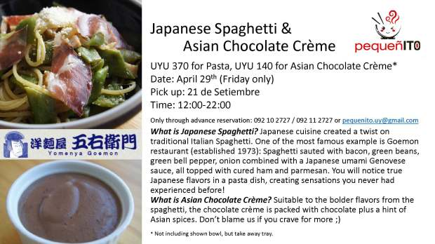 Japanese Spaghetti with Asian Choco cream pick up April 2016