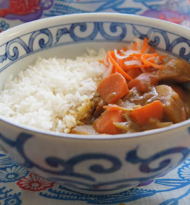 Japanese curry with seasonal pickles